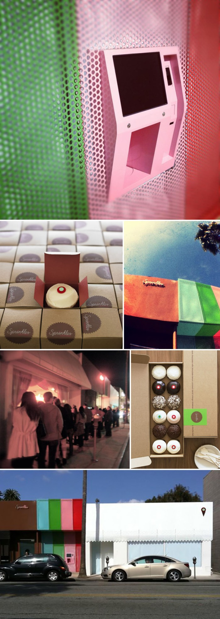 cool vending machine, 24-hour cupcake atm, Sprinkles cupcakes, food, dessert, collabcubed