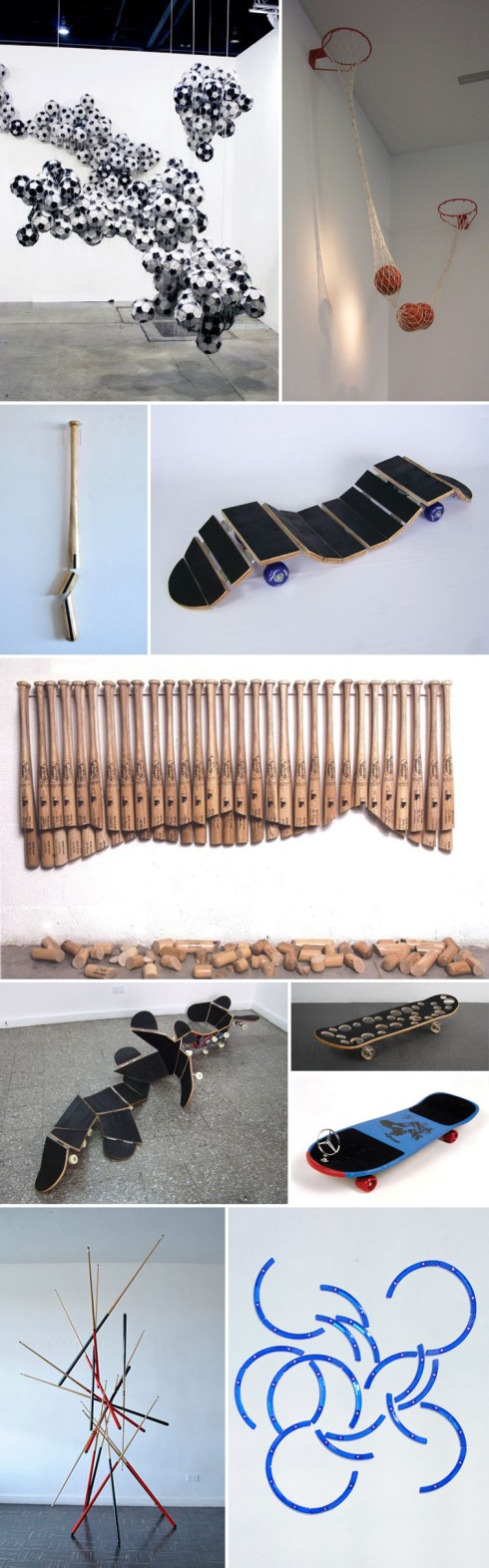 sports gear, guatemalen contemporary art, art installations, kamel mennour, collabcubed