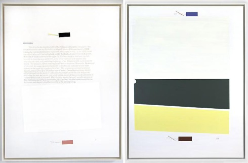 Jenny Holzer, redacted text paintings, endgame, contemporary art, skarstedt gallery