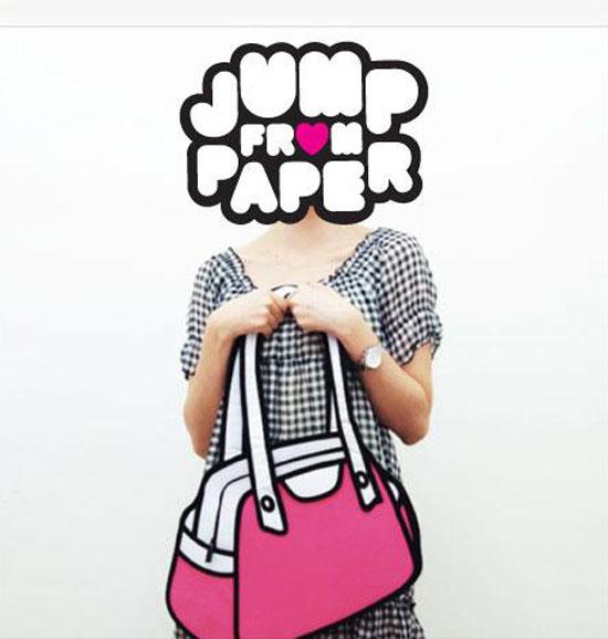 Cartoonlike Handbags Jump From Paper CollabCubed - Cartoon handbags