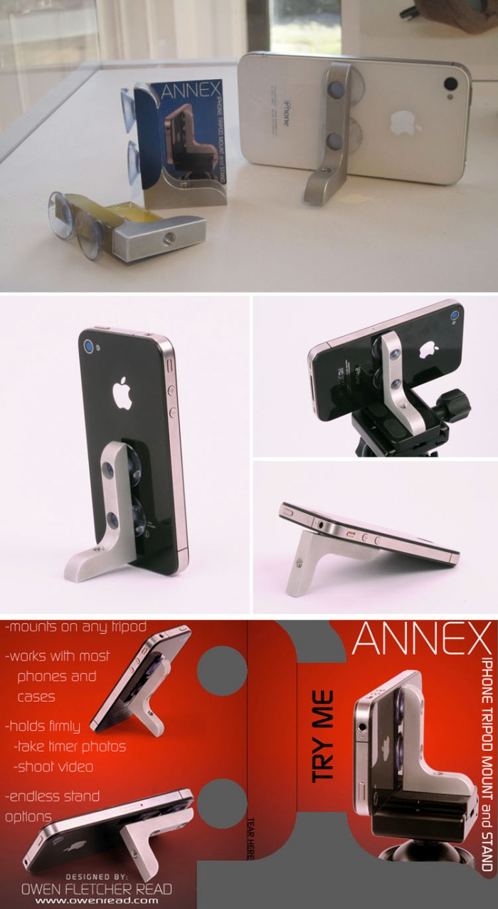 Owen Read, Annex Tripod Mount for iPhone, RISD Industrial Design 2012