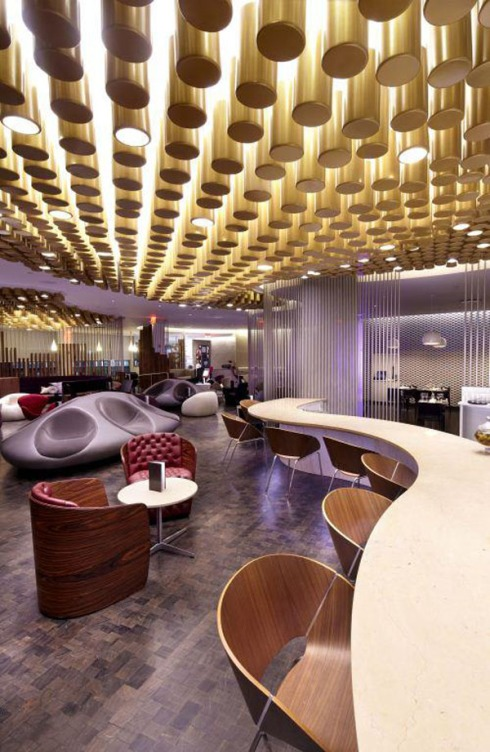 Virgin Atlantic, new JFK Clubhouse, Airline Lounge, Slade Architecture, collabcubed