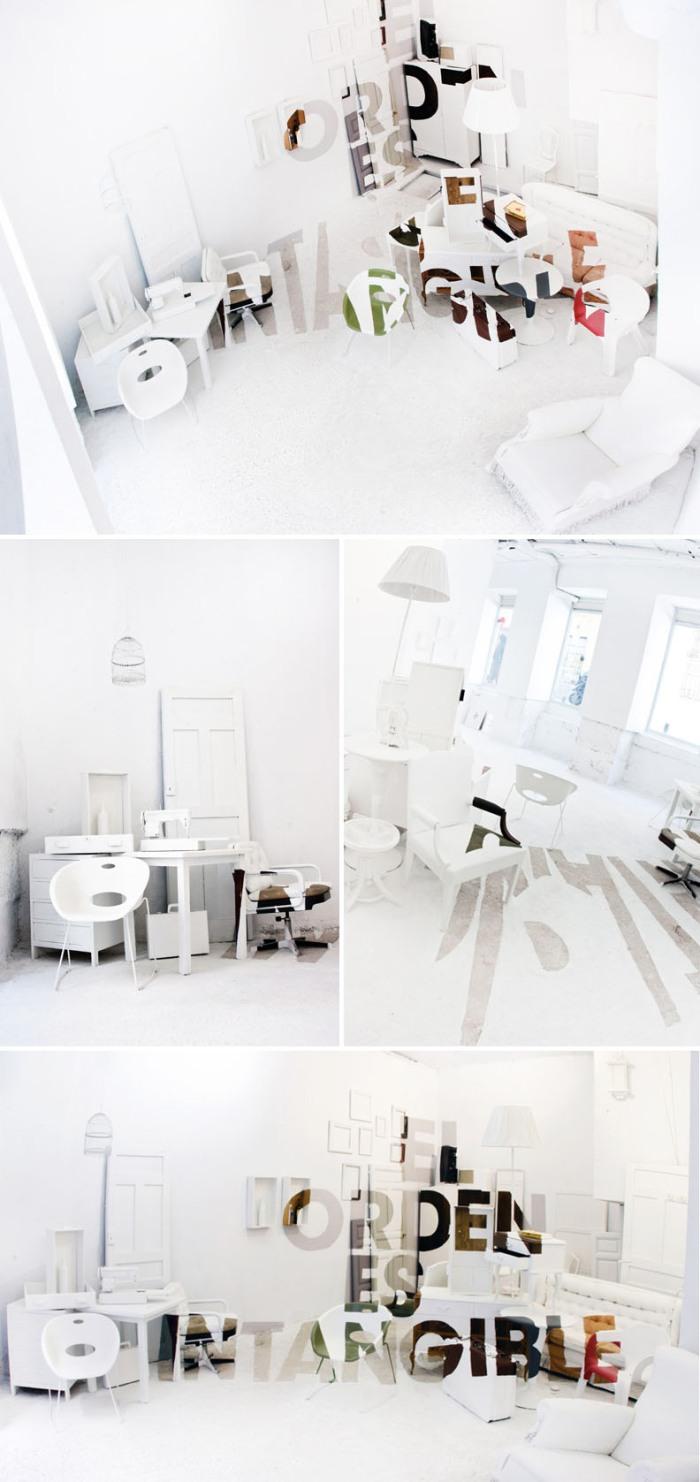 Typographic installation, Boa Mistura, Louis Kahn Poem, cool type installation, collabcubed