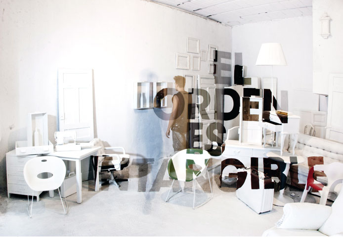 Typographic installation, Boa Mistura, Louis Kahn Poem, cool type installation, collabcubed