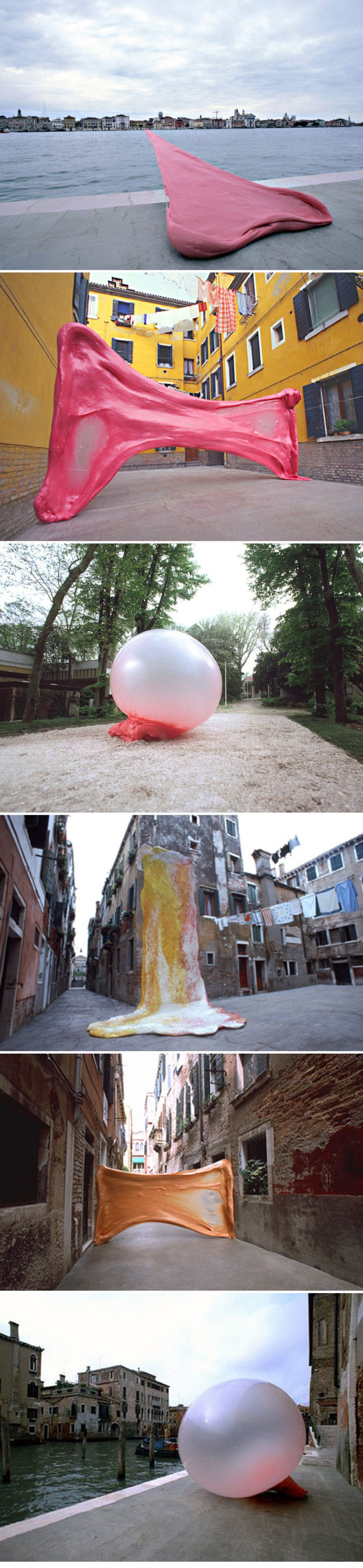 Photographs, Chewing Gum, Bubble gum art, trompe l'oeil, Venice, Simone Decker