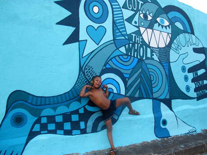 Street art in Capetown, UK, David Shillinglaw, Dodie Boy, illustration, graphic design