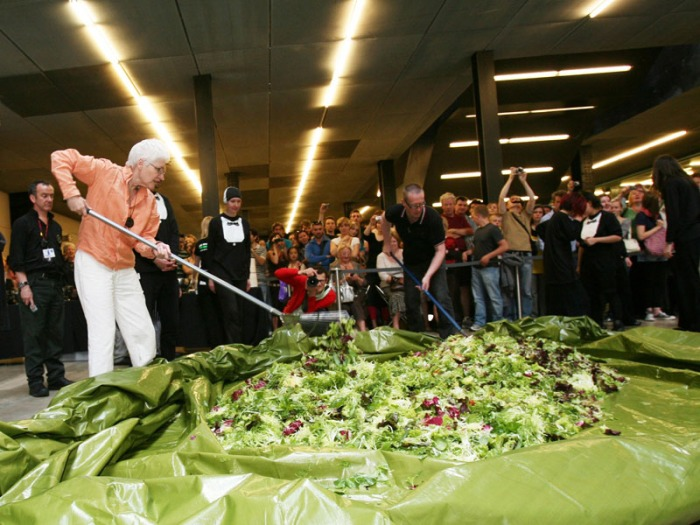 Alison Knowles, Fluxus, Art, High Line, NYC event, april 22nd, Make a Salad, collabcubed