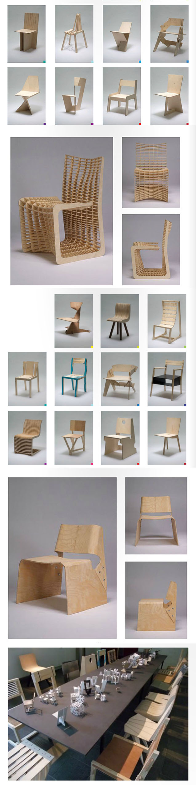 One Chair a Week, Royal Danish Academy of Fine Arts, Architecture School, Students built Full-scale chairs