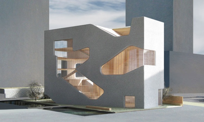 NYC architecture, New Architecture, Contemporary Architecture, Libary Design, Queens, Steven Holl