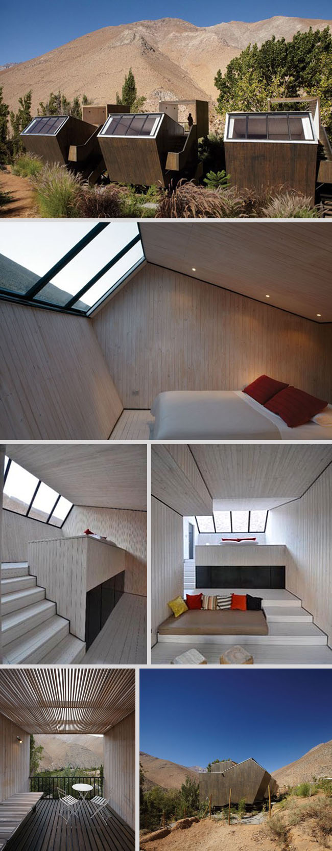Hotel Elqui Domos new rooms by Rodrigo Duque Motta, Contemporary Chilean Architecture, skylights,