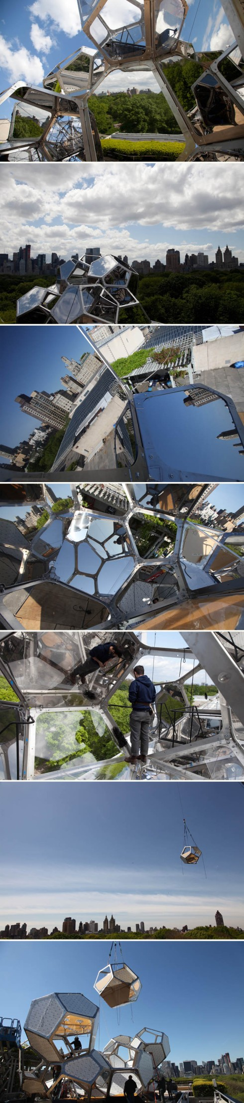 Met Roof Garden installation, Cloud City, Tomas Saraceno, cool installation, contemporary art, collabcubed