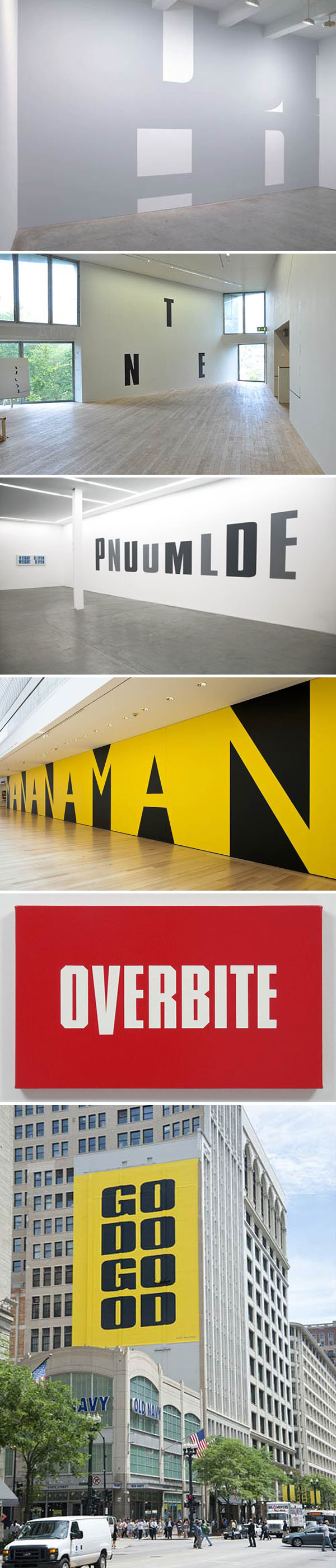 Typographic Installations, Words, Type as art, Kay Rosen, play with words