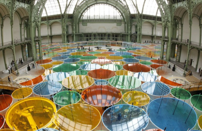 Cool installation at the Grand Palais in Paris, by Daniel Buren, Monumenta 2012, collabcubed