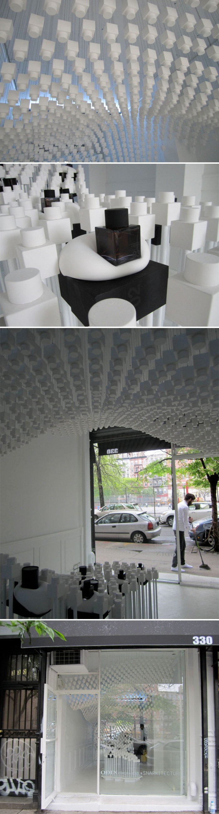 Snarkitecture, Daniel Arsham, Cool retail design for Odin Pop-up shop, NYC, collabcubed