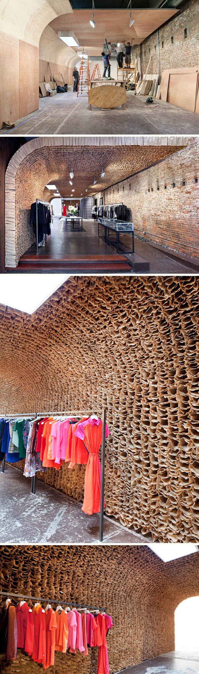 New cool highend store in meatpacking with 25000 paperbag installation, Owen, Tacklebox, cool store design