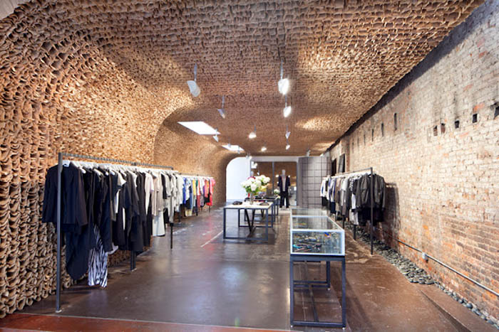 New cool highend store in meatpacking with 25000 paperbag installation, Owen, Tacklebox, Juliana Sohn