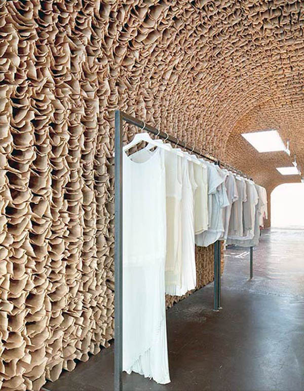 New highend store in meatpacking with 25000 paperbag installation, Owen, Tacklebox, Juliana Sohn