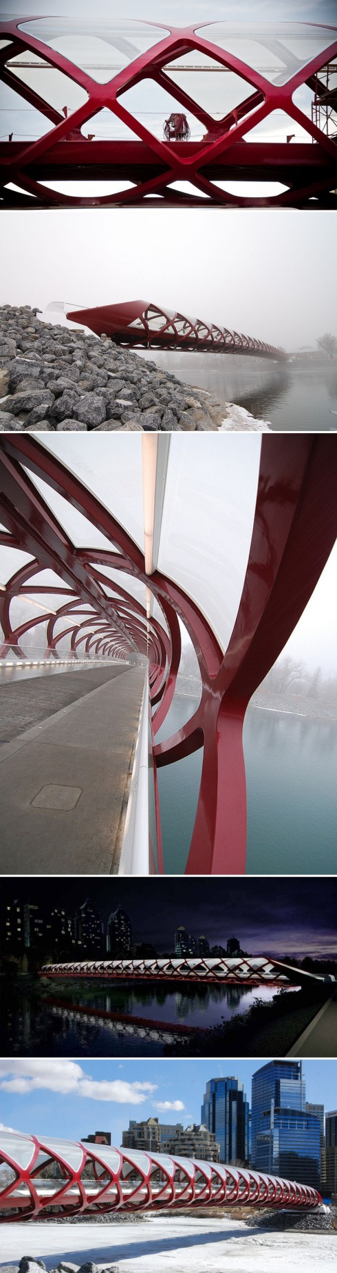 Santiago Calatrava, Peace Bridge, Helix, Contemporary Bridge Design, Pedestrian Bridge,Calgary, Canada
