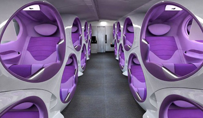 Air Lair Concept Pod Entertainment Seating For Business Class Flying Factory Design