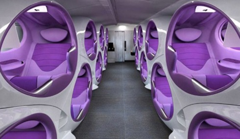 Air Lair, Concept Pod Entertainment seating for Business Class flying, Factory Design, Contour Aerospace, collabcubed