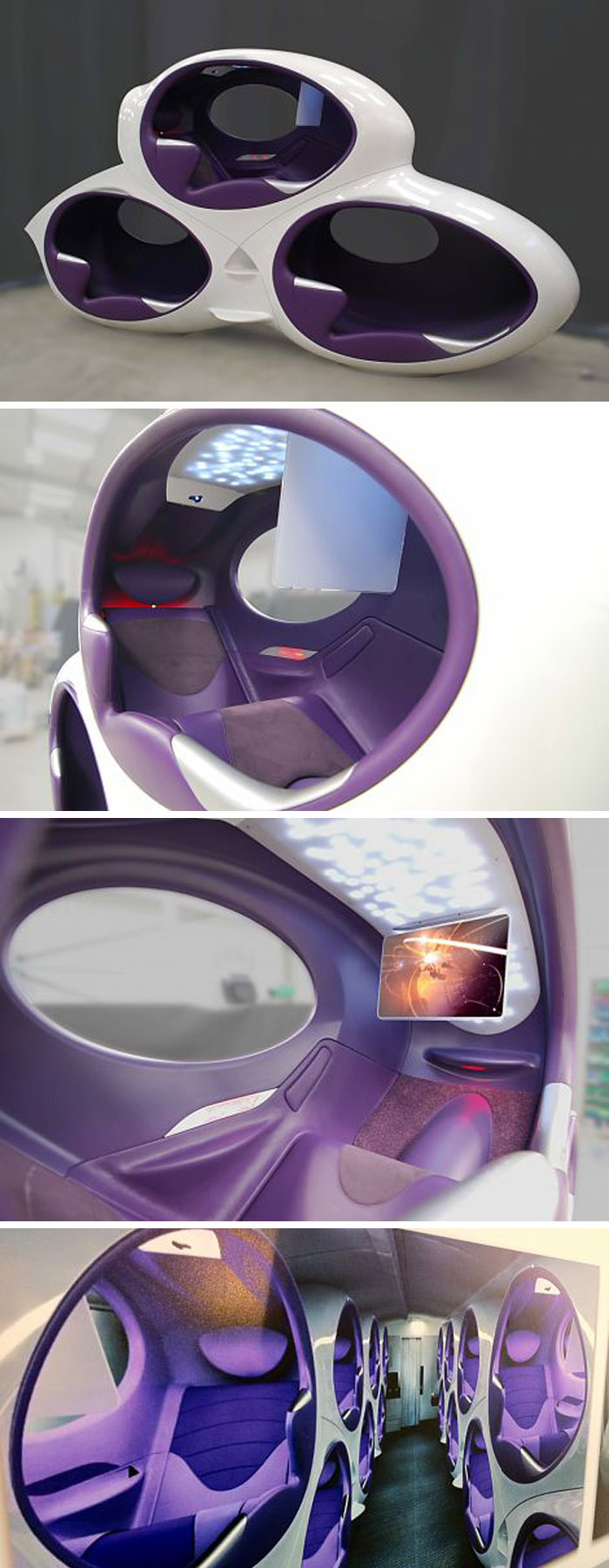 air lair  pod business class seats