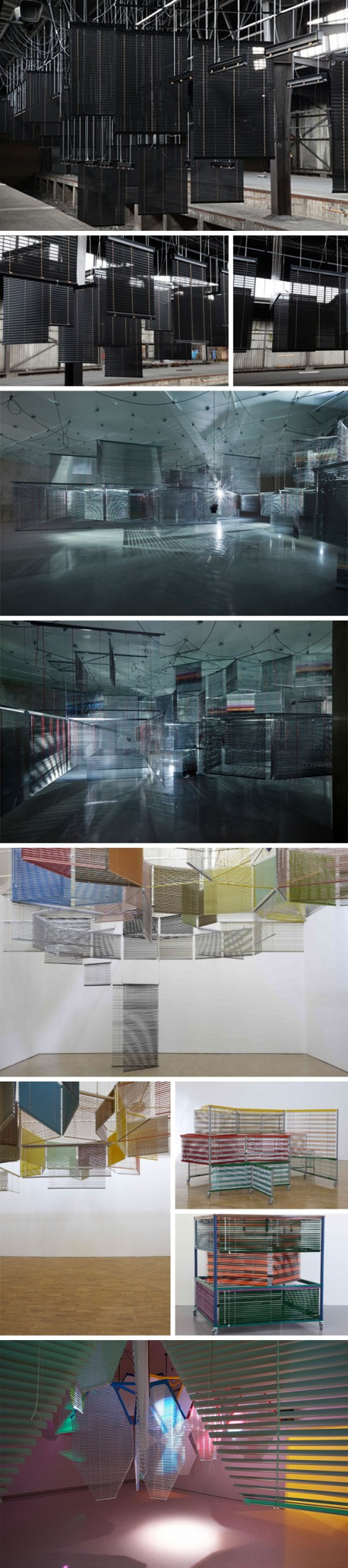 Korean Contemporary art, Venetian Blind art installations, Haegue Yang, Heike Jung, Documenta13