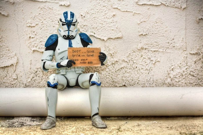 Humorous photos of Star Wars toys out of work, Marcos Minuchin