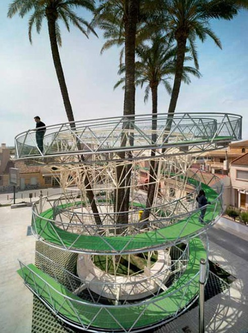 Lookout Tower in Alicante Spain, Sustainable structure, cool spiral promenade, Joaquin Alvado, Contemporary Spanish Architecture