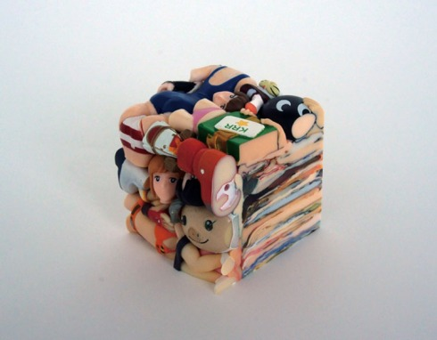 Melted Manga Anime Figurine sculptures, Three Studio, Contemporary Japanese Art, Cool Sculptures