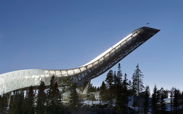 cool architecture, ski jump near Oslo 2011, JDS Architects, Holmenkollen ski jump
