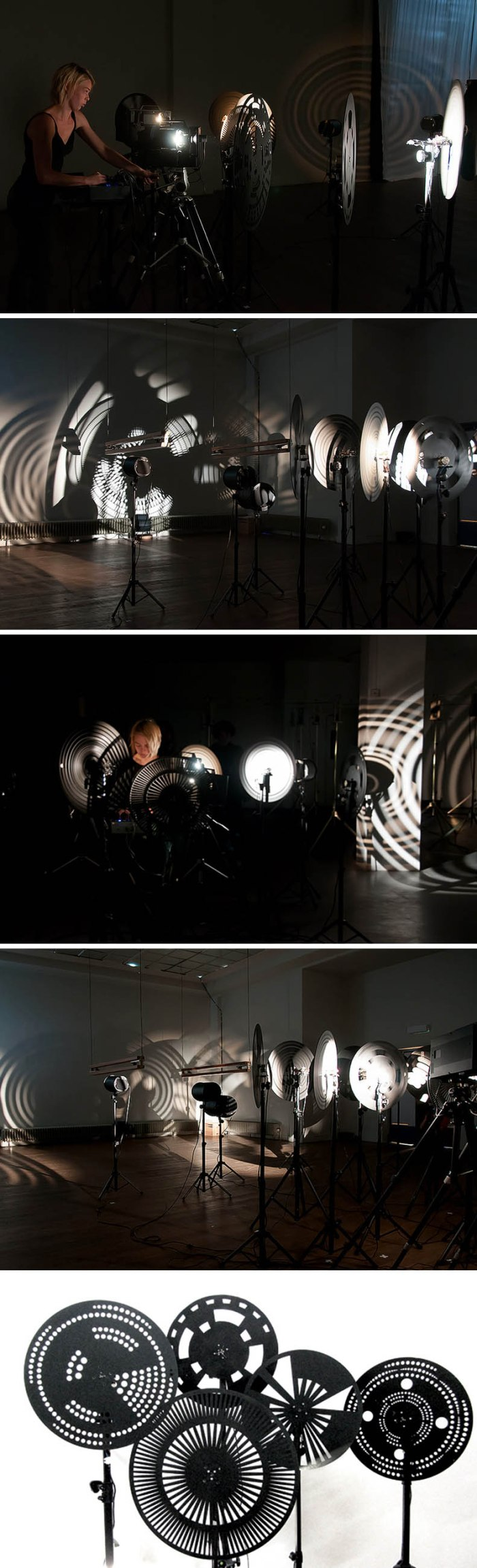 Light and performance art installation, Mariska de Groot, Royal Academy of Art, The Hague, cool installation