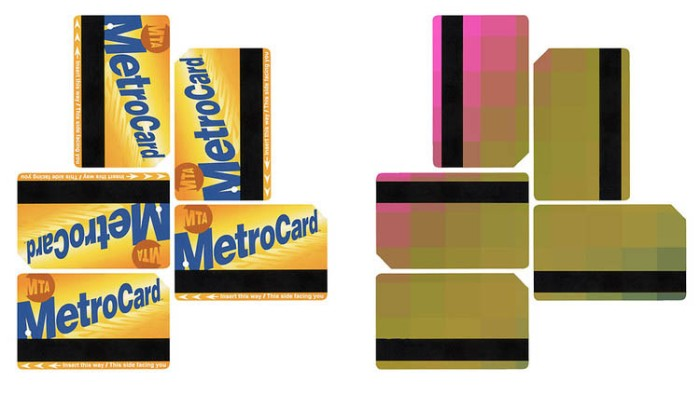 Proposal for MetroCard Advertising as game or scavenger hunt, puzzle pieces. Smart design and advertising
