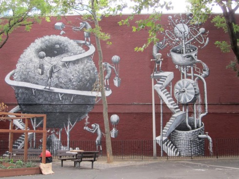 English Street Art in NYC, Phlegm, West 17th Street mural, Chelsea, street art, graffiti