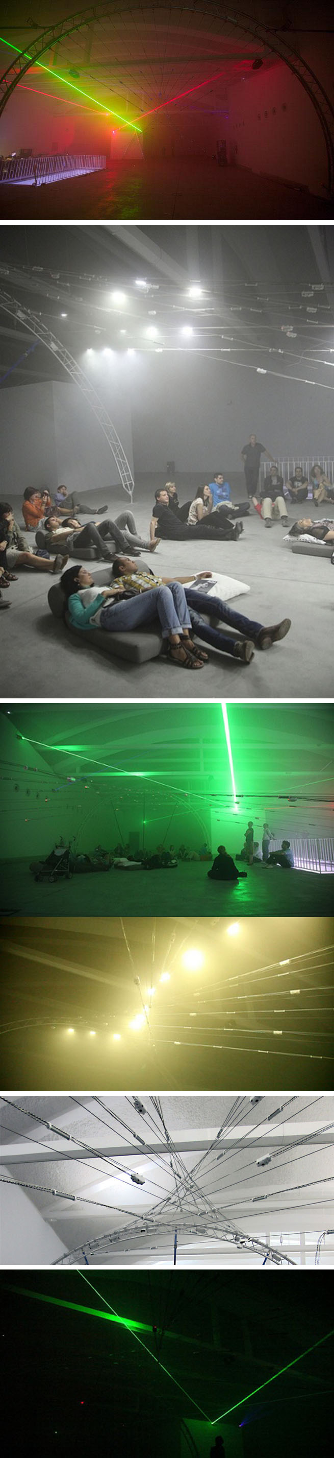 Light and sound installation by Chris Slater at LABoral in Gijon, Spain