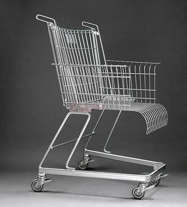 shopping cart chair, Frank Schreiner, Stiletto Studios, Vitra, fun chair design