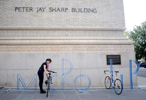 BAM alphabet bike racks by David Byrne, Micro Lip