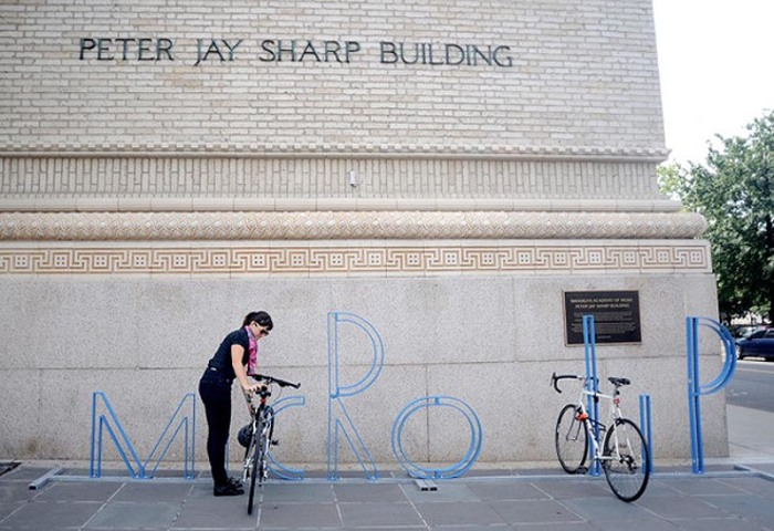 BAM alphabet bike racks by David Byrne, Micro Lip