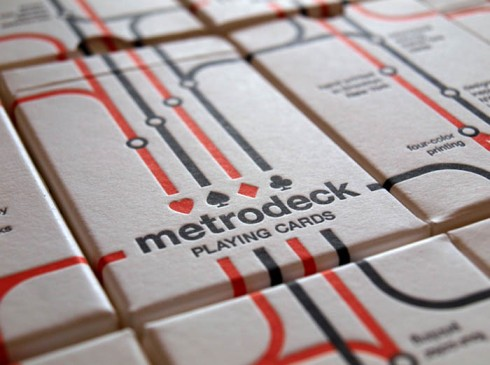 Repurposed metrocards silkscreened and converted to playing cards, metro cards as Playing cards