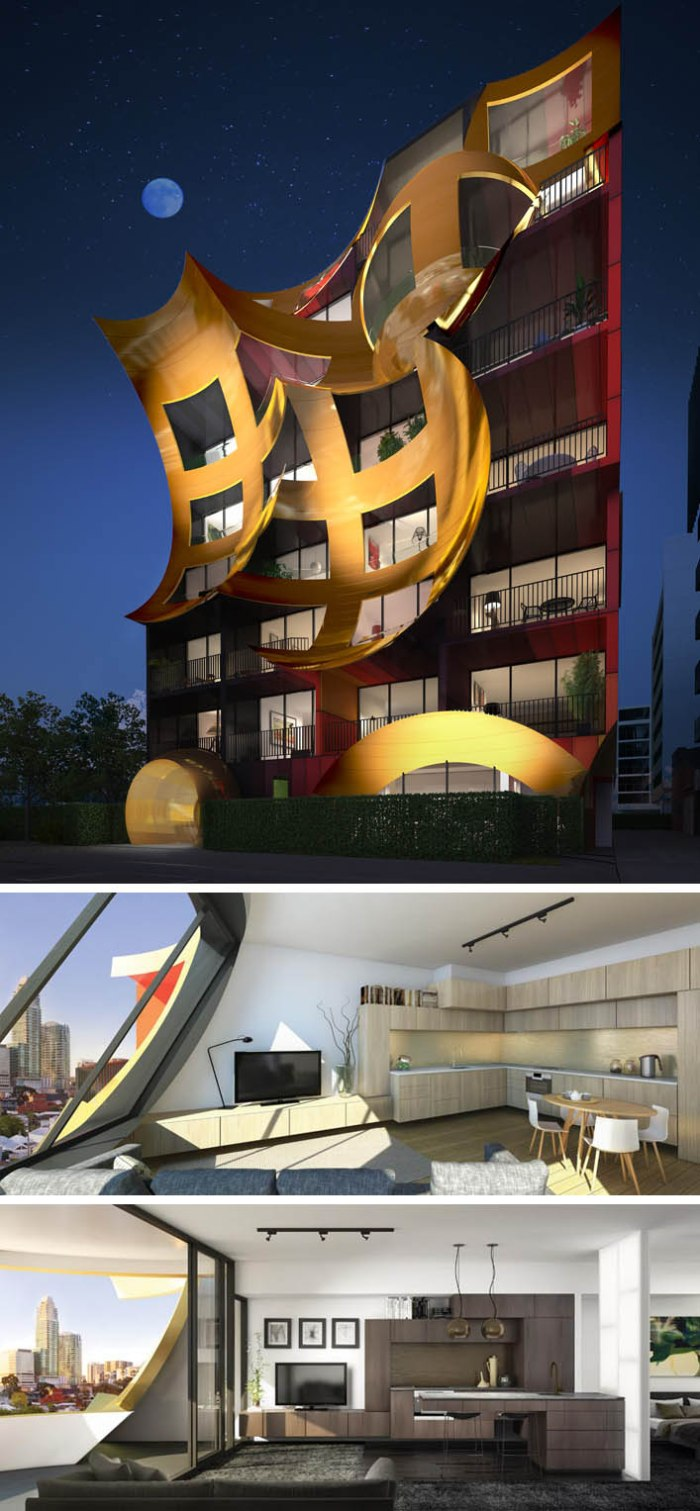 Orbis apartment building, South Melbourne, Cool Facade, Surreal architecture, contemporary architecture in Australia, ARM