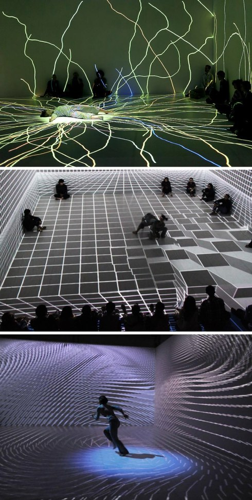 Japanese Modern dance combined with cool video projection mapping, Anarchy Dance Theater, Ultra Combos