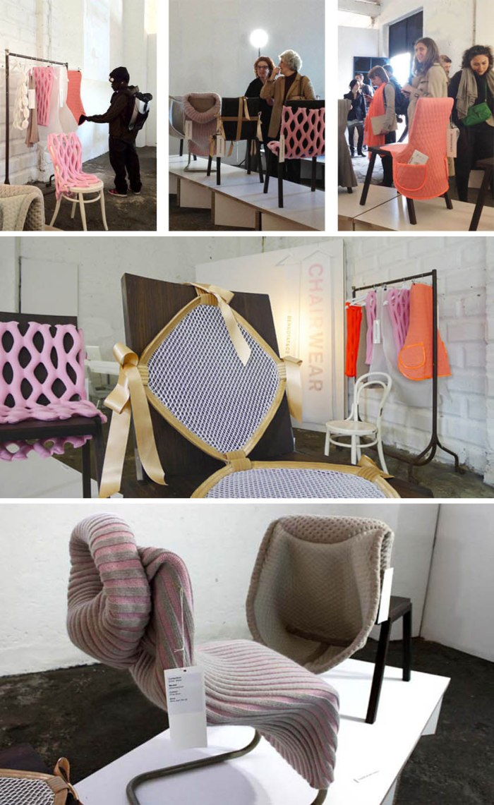 Contemporary chair cover designs to renew old chairs into seemingly new ones. Anke Bernotat and Jan Jacob Borstlap, Dutch design
