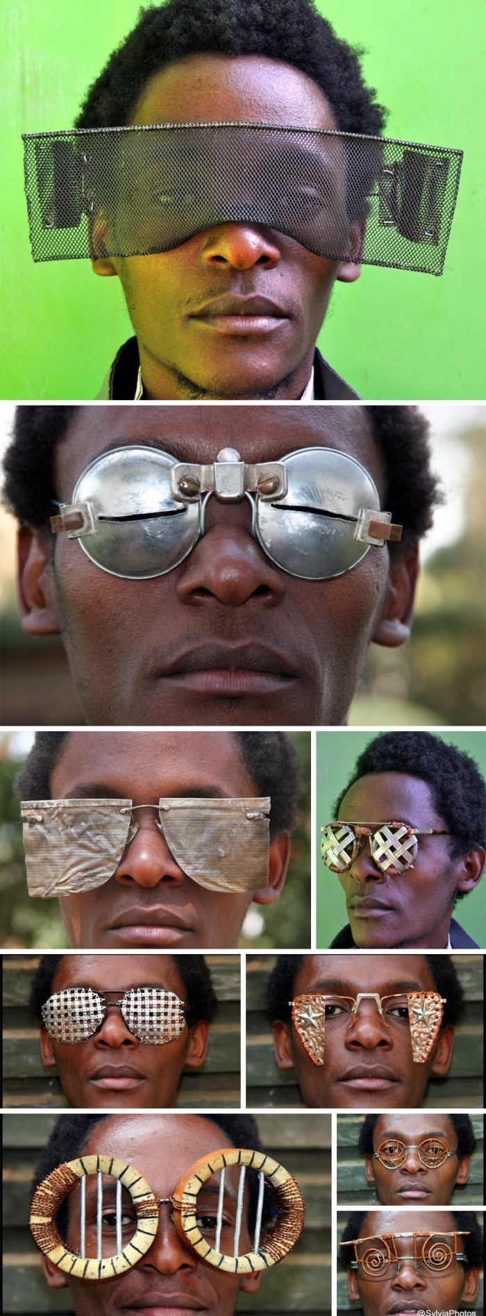 Crazy glasses made from junk and found objects, Contemporary African Art, Cyrus Kabiru at Istanbul Design Biennial 2012