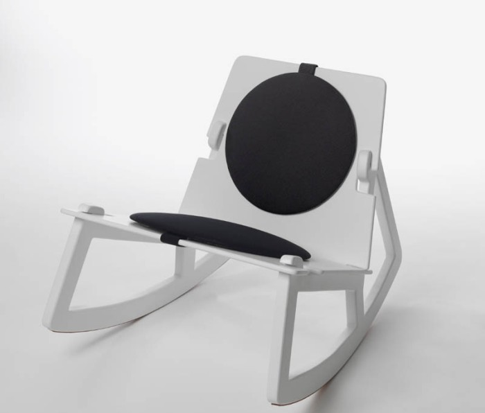 Rock Chair, contemporary Swedish Designed rocking chair, assembles and disassembles, Fredrik Farg