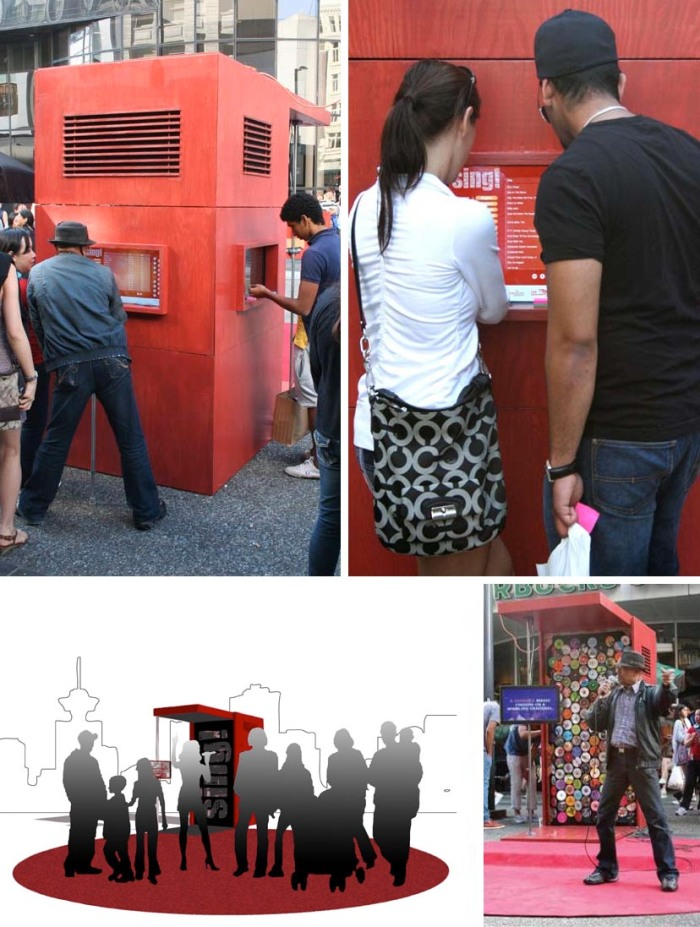 design, karaoke kiosk, international diverse music collection, portable karaoke kiosk, Vancouver, Urban Republic Arts Society