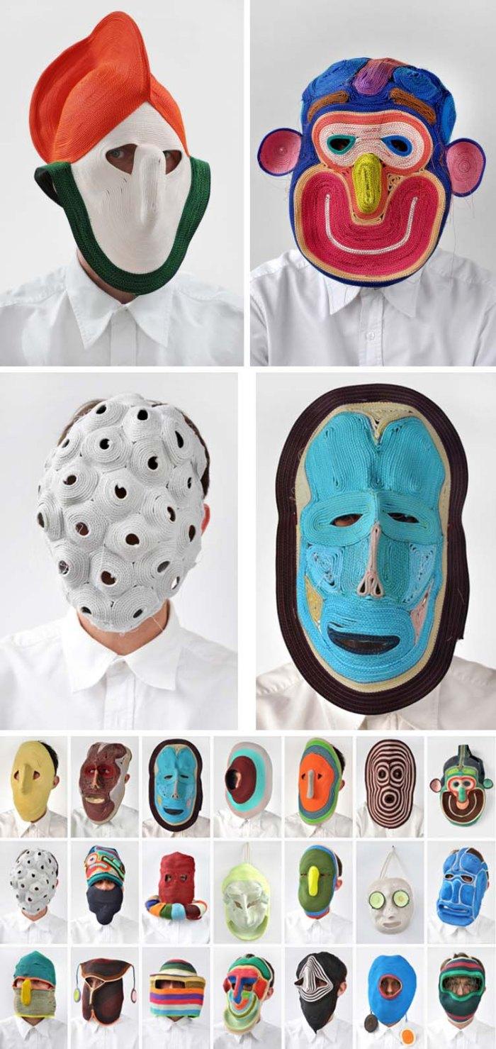 Studio Bertjan Pot, Dutch Design, materials experiment, crazy cool masks