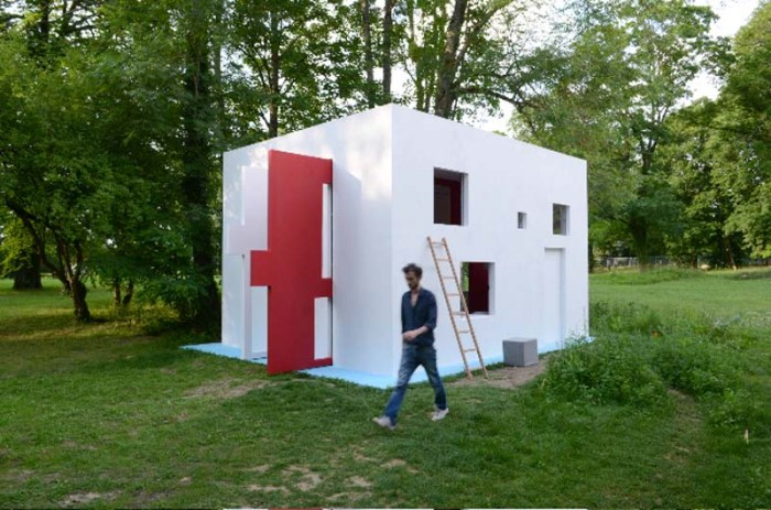 Breathing House, Interactive architecture/art, cool and contemporary architecture, art experience, Galerie Catherine Bastide, Parc Saint Léger