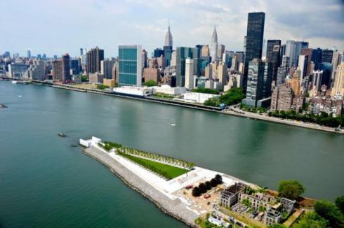 FDR Memorial Park in NYC, Louis Kahn, Four Freedoms Park, Roosevelt Island