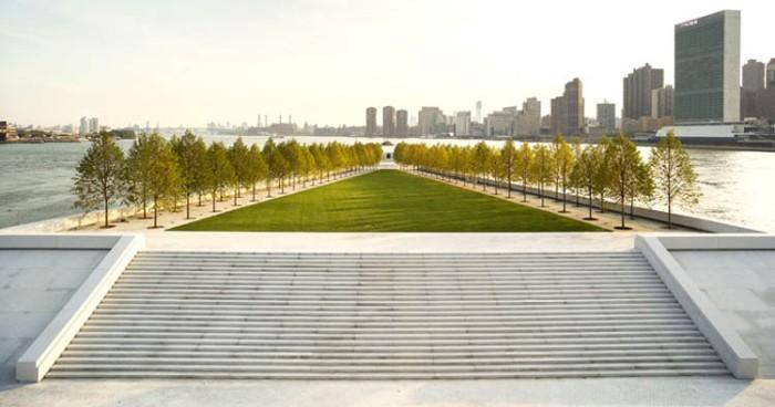 Roosevelt Island Park, Louis Kahn, Franklin Delano Roosevelt Four Freedoms, NYC, New park, sculpture