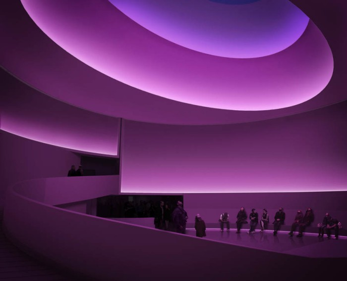 James Turrell, Retrospective at the Guggenheim summer 2013, light installations, skyscapes, cool art