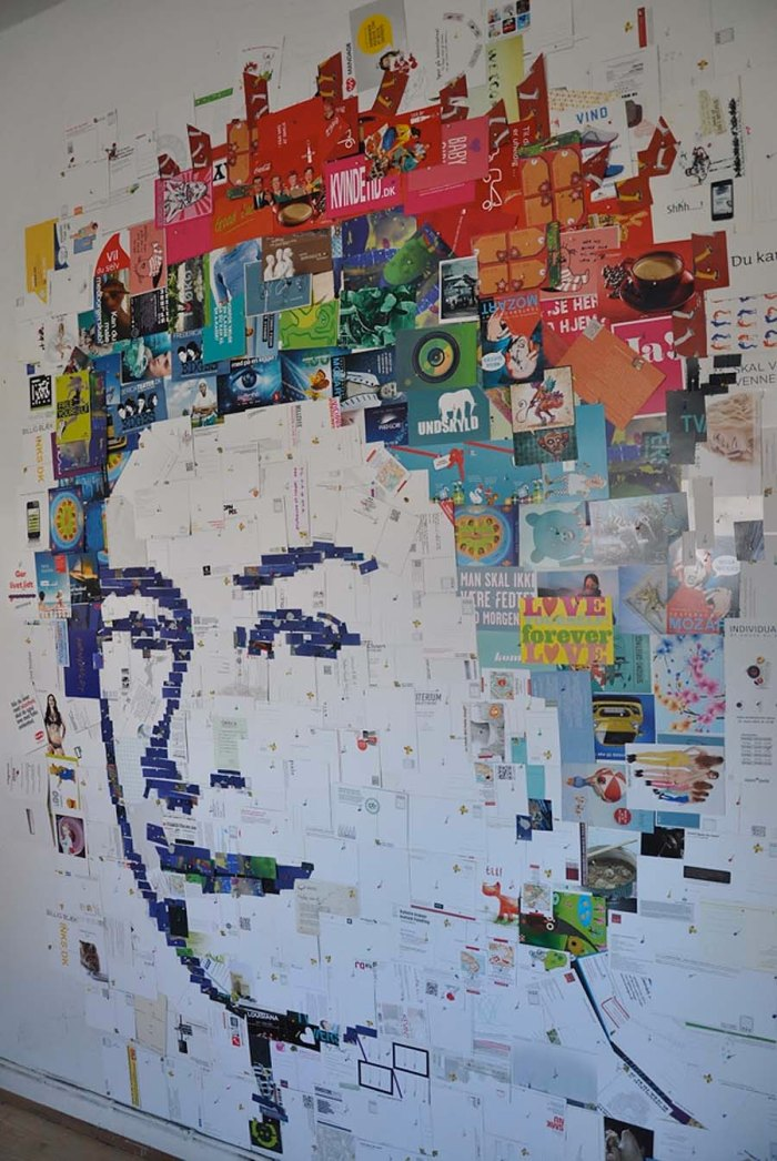 collage of queen elizabeth made from postcards by Amir Zainorin, postcard currency portraits